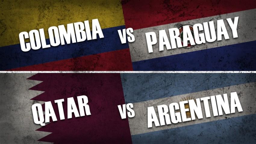 Colombia vs Paraguay / Qatar vs Argentina