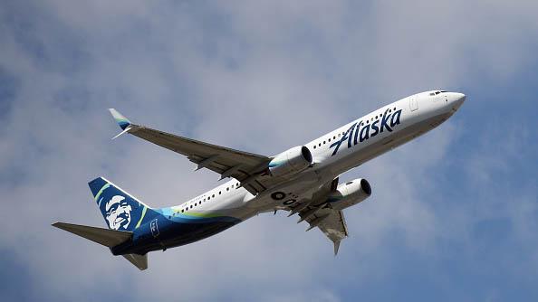 Alaska Airlines Plane.