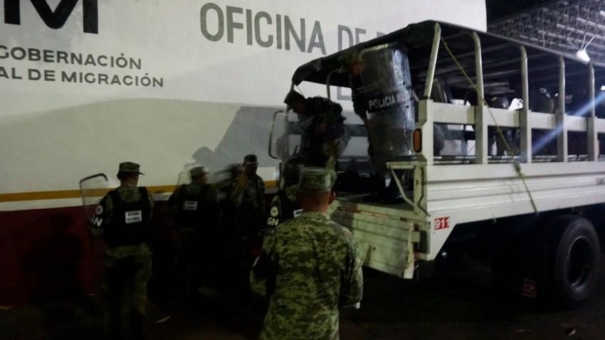 Guardia Nacional llega a estación migratoria en Chiapas