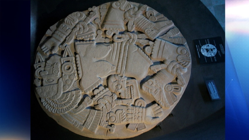 Representación de la Coyolxauhqui, la diosa mexica de la luna.