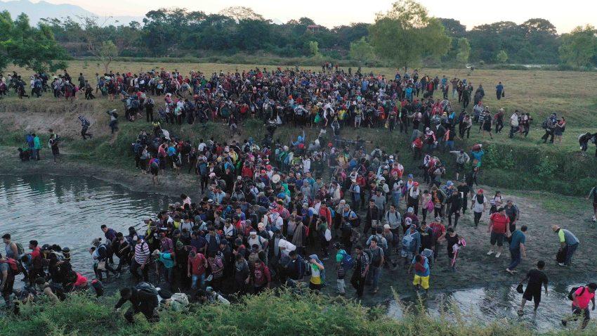 Caravana migrante Mexico