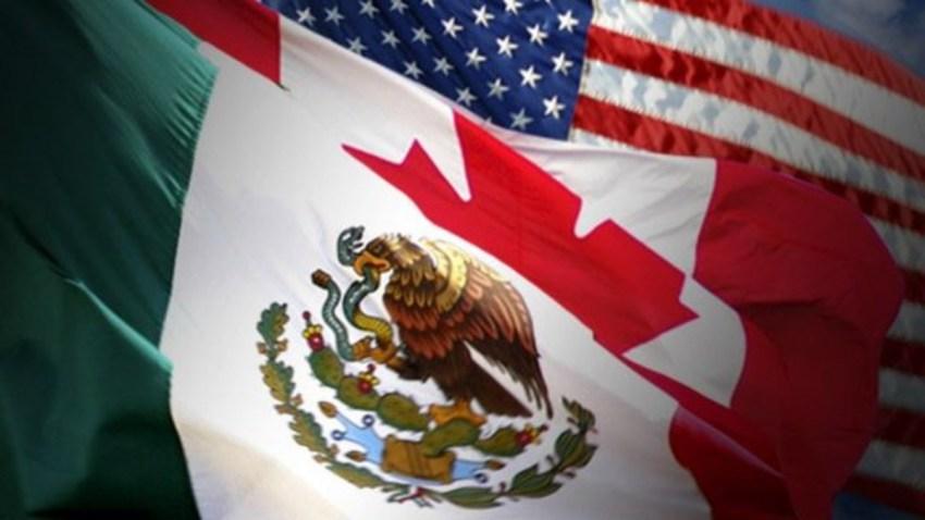 Banderas de México, EEUU y Canadá