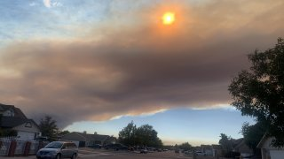 Smoke from the Lake Fire.