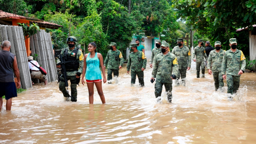 Lluvias e inundaciones en Guerrero