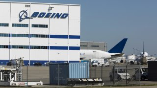 The Boeing Co. manufacturing facility stands in North Charleston, South Carolina