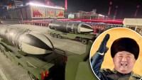 En video: Kim Jong Un muestra sus nuevos misiles durante desfile militar