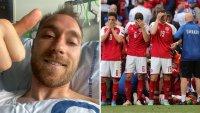 Las primeras palabras del futbolista que volvió de la muerte tras desplomarse en pleno partido