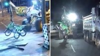 Video: utilizan un tractor para robar motocicletas y se desata caótica persecución