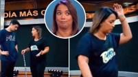 La presentadora de Un Nuevo Día expresó su frustración por la dificultad de su coreografía. Para ver más de Telemundo, visita...