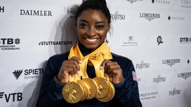 Histórico: Simone Biles es la gimnasta más galardonada