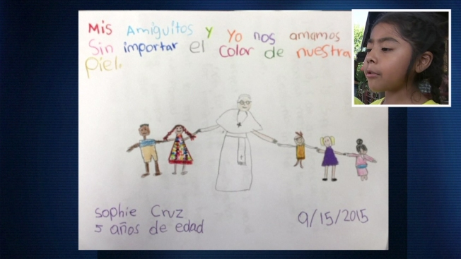 La carta que la niña Sophie Cruz le dio al Papa